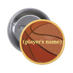 Personalized Basketball Button