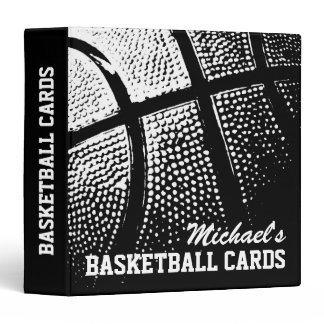 Personalized basketball card binder for collector