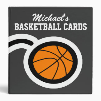 Personalized basketball card binder for collectors