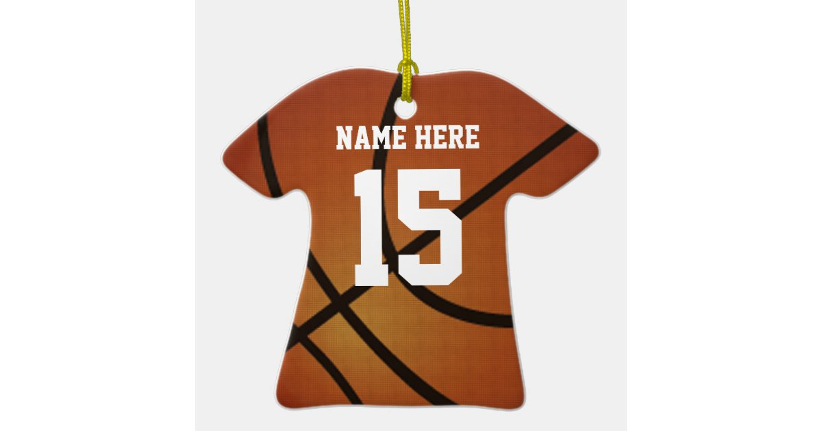 personalized basketball christmas ornaments jersey zazzlecom