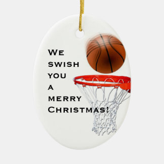 PERSONALIZED BASKETBALL CHRISTMAS TREE ORNAMENTS