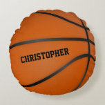 Personalized Basketball Circle Round Round Pillow