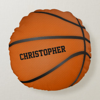 Personalized Basketball Circle Round Round Pillow