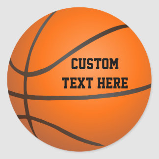 Personalized Basketball Classic Round Sticker