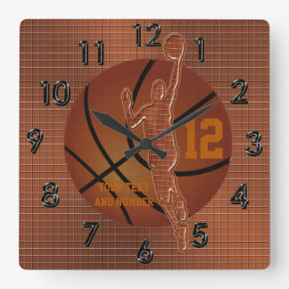 Personalized Basketball Clocks w NAME and NUMBER