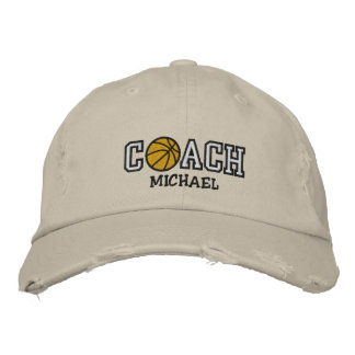 Personalized Basketball Coach Embroidered Baseball Caps