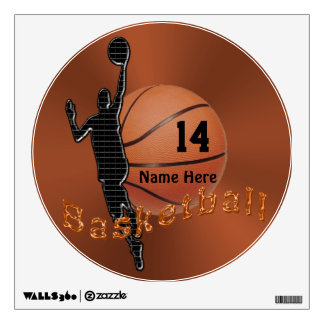 Personalized Basketball Decals for Walls for Boys