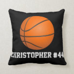 Personalized Basketball Decor Throw Pillow