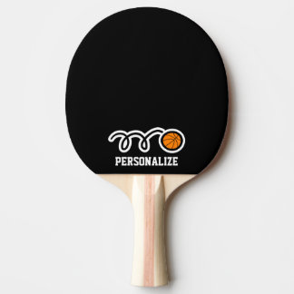 Personalized basketball design ping pong paddle