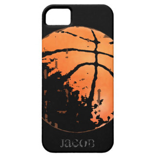 Personalized Basketball Distressed  iPhone5 Case iPhone 5 Cover