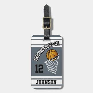 Personalized Basketball DIY Color Bag Tag