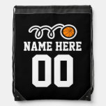 Personalized basketball drawstring backpack bag drawstring bags