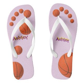 Personalized Basketball Flip Flops