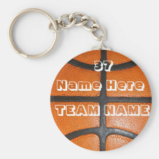 Personalized Basketball Gifts for Boys & Girls Basic Round Button Keychain