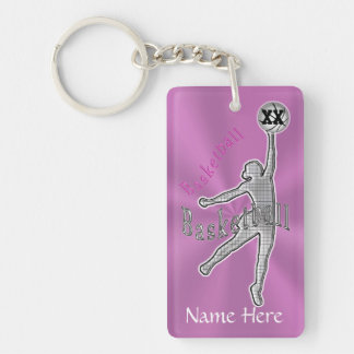 Personalized Basketball Gifts for Girls Team Rectangle Acrylic Key Chain