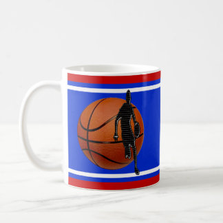 Personalized Basketball Gifts for Players, 3 Text Coffee Mug
