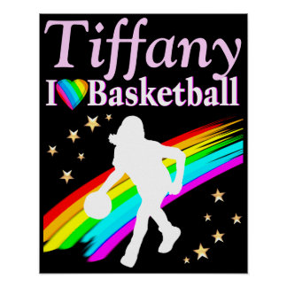 PERSONALIZED BASKETBALL GIRL PLAYER POSTER