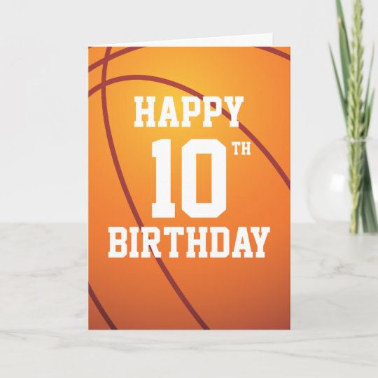 Personalized Basketball Happy Birthday Card