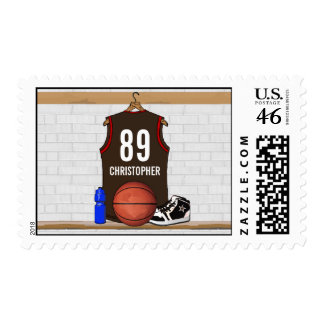 Personalized Basketball Jersey BRO Postage Stamps
