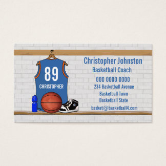 Personalized Basketball Jersey (LBO) Business Card