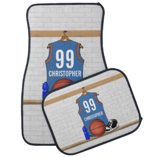 Personalized basketball jersey (LBO) Car Floor Mat