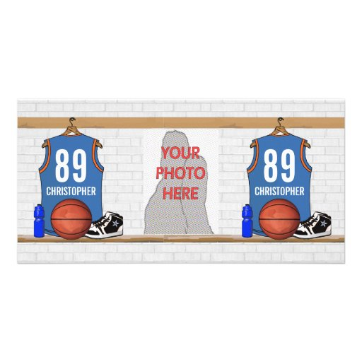 Personalized Basketball Jersey (LBO) Photo Cards