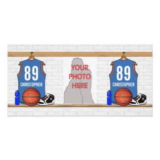 Personalized Basketball Jersey LBO Photo Cards