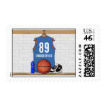Personalized Basketball Jersey (LBO) Postage Stamps