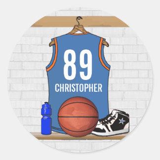 Personalized Basketball Jersey LBO Sticker