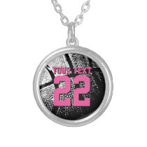 Personalized basketball jersey number necklace
