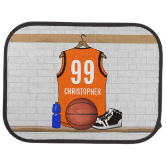Personalized Basketball Jersey (ORGEB) Car Floor Mat