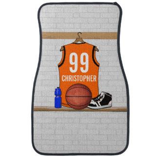 Personalized Basketball Jersey (ORGEB) Car Mat