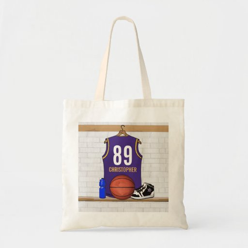 Personalized  Basketball Jersey (PG) Budget Tote Bag