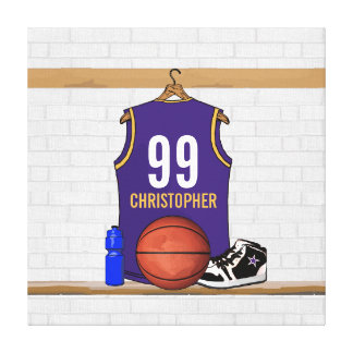 Personalized Basketball Jersey (PG) Canvas Print