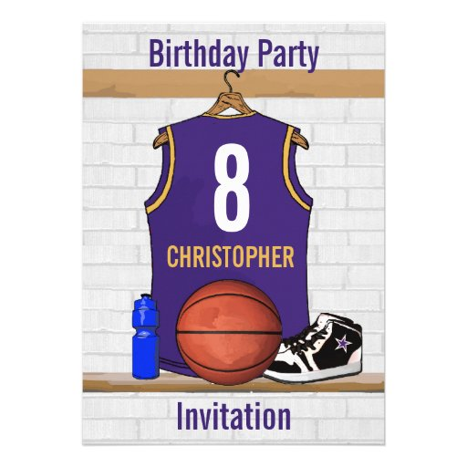 Personalized  Basketball Jersey (PG) Custom Invitations