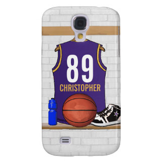 Personalized  Basketball Jersey (PG) Samsung Galaxy S4 Cover