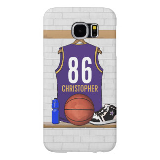 Personalized  Basketball Jersey (PG) Samsung Galaxy S6 Case