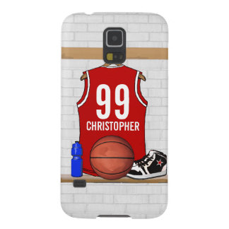Personalized Basketball Jersey (red) Galaxy S5 Case