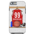Personalized Basketball Jersey (red) iPhone 6 Case