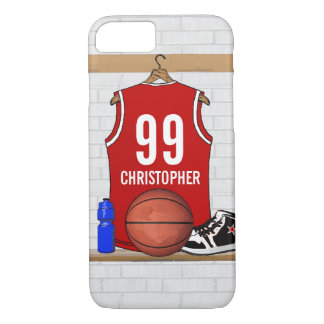 Personalized Basketball Jersey (red) iPhone 7 Case