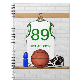 Personalized Basketball Jersey (white) Journal