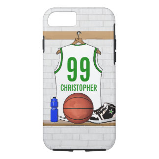 Personalized Basketball Jersey (whitegreen) iPhone 7 Case