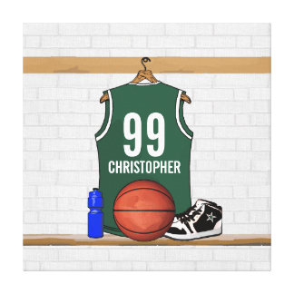 Personalized Basketball Jersey Wrapped Canvas
