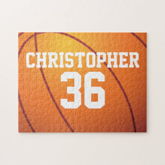 Personalized Basketball Jigsaw Puzzle