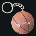 "Personalized Basketball Keychain<br><div class=""desc"">Customize this individual personalized basketball keychain by changing the player name and number.</div>"