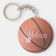 Personalized Basketball Keychain at Zazzle
