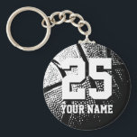 "Personalized basketball keychain | name and number<br><div class=""desc"">Personalized basketball keychain 
