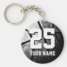 Personalized Basketball Keychain | Name And Number at Zazzle