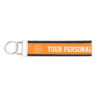 Personalized basketball kids sports Birthday party Wrist Keychain