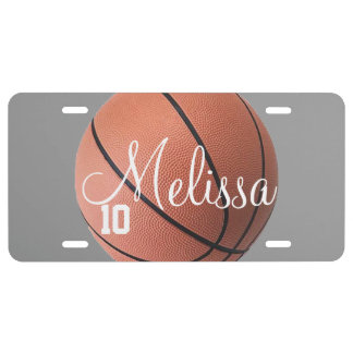 Personalized Basketball Lcense Plate